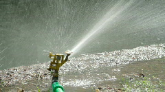 Sprinkler with Speed Change Stock Footage