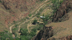 Grand Canyon Phantom Ranch Wide Stock Footage