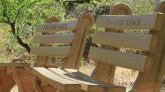 Grand Canyon Phantom Ranch Benches Stock Footage