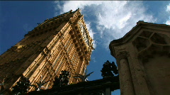 Big Ben Low Angle with Fence 1 Stock Footage