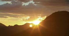 2K Video timelapse desert monsoon season sunset with Saquaro cactus silouhettes Stock Footage