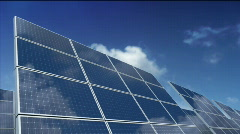 Solar Panels - Green Energy - stock footage