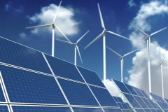 Solar Panels and Wind Turbines - Green Energy - stock footage
