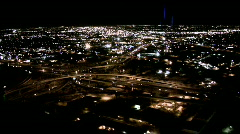 Helicopter Freeway Loops, Aerial Phoenix - stock footage