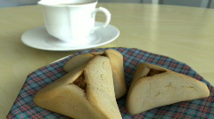 Purim - Hamantaschen Stock Footage