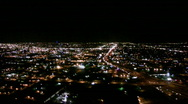Stock Video Footage of Helicopter City Night 01
