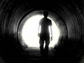 Man in tunnel V2 - NTSC Stock Footage