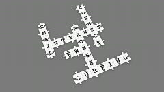 Internet - Puzzle Crossword Game (dark) - stock footage