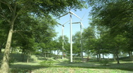 Wind Turbines in the Forest Stock Footage