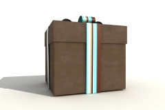 Brown Gift Box Stock Footage