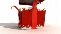 Red Gift Box Stock Footage