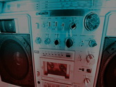 Ghettoblaster hifi music audio retro vintage cassette Stock Footage