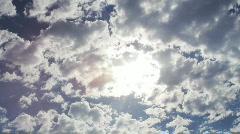 Dramatic Cloud-Sun Timelapse Stock Footage