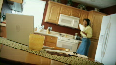 Around The House: Paying The Bills 05 (1080p / 29.97) Stock Footage