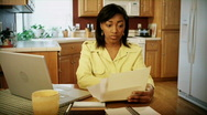 Around The House: Paying The Bills 06 (1080p / 29.97) Stock Footage
