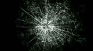Accident impact traces,broken cracked damaged glass,boxing hit ice windows. Stock Footage
