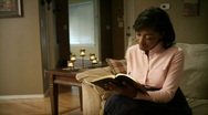 Stock Video Footage of Around The House: Bible Study 01 (1080p / 23.98)