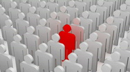 Standing out from the crowd Stock Footage