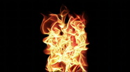 Stock Video Footage of Fire Series: Vertical Flames 2