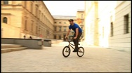Bike Wipe Out Stock Footage