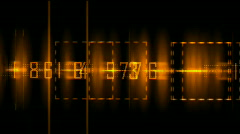 Business digital matrix light character fire cross rays lines number coding. Stock Footage