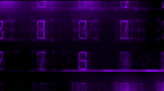 Business digital matrix light character cross rays lines number coding. Stock Footage