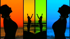 Yoga meditation montage V5 - HD Stock Footage