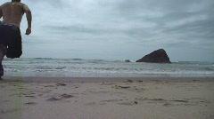 Refreshing Ocean Swim Stock Footage