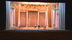 Scene of the concert hall in theater Stock Footage