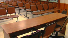 Empty audience Stock Footage