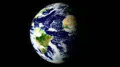 Recycle symbol and spining earth - HD Stock Footage