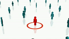 Human resources person man crowded HD Stock Footage