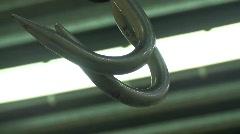 Hooks lightsoff Stock Footage