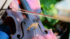 Woman plays on the contrabass Stock Footage