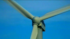 Recycle symbol and wind turbines montage V1 - HD Stock Footage