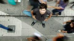 Sidewalk Guy - stock footage