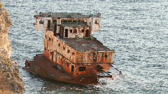 Old ship - stock footage