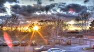 Urban Sunset Stock Footage