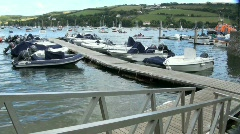 Floating Pontoon at Salcombe Stock Footage