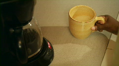Around The House: Making Coffee 05 (1080p / 29.97) Stock Footage