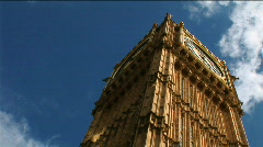 Big Ben Low Angle Stock Footage
