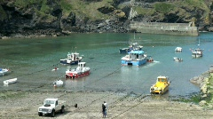 Port Isaac Harbour Stock Footage