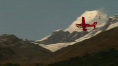 Float Plane Circles Over Glaciers Stock Footage