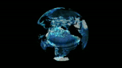 Earth hologram Stock Footage