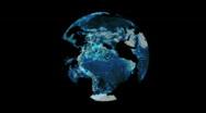 Earth hologram Stock Footage