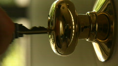 Key Lock Door 02 Stock Footage