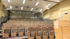 College Auditorium Lights on off 01 - stock footage
