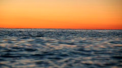 The sunset at the sea from the boat Stock Footage