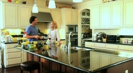 Couple at home Stock Footage