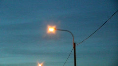 night lights from moving car - stock footage